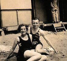 At THe Beach 1929 by Robert Phillips