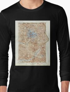 USGS Topo Map Washington State WA Mt Rainier 242671 1928 125000 Long Sleeve T-Shirt