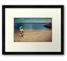 seaside holiday Framed Print
