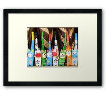 Cheeky Cats Framed Print