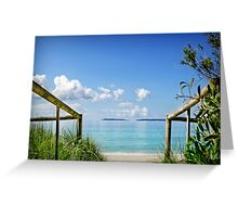 Where the Sea meets the Sky... Greeting Card