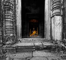 Secret Buddha, Cambodia by Michael Treloar