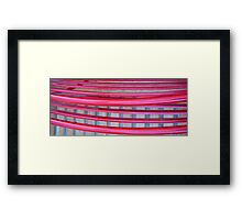 sets in the city Framed Print