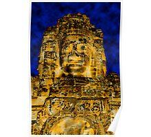 Golden faces of Bayon, Cambodia  Poster