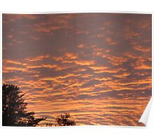 Ocean of Orange Clouds Poster