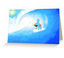 Surfin' Mudkip Greeting Card