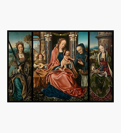 The Holy Family Triptych by Master of Frankfurt (c. 1520) Photographic Print