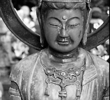 Buddhist Statue, Japanese Temple. by WaterGardens