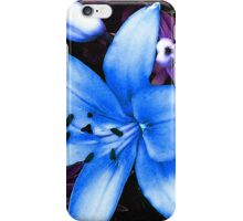 Blue Asiatic Lily iPhone Case/Skin