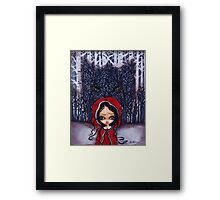 Seeing Red Framed Print