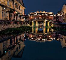 Pagoda Bridge Reflections (Vietnam) by Kim Andelkovic