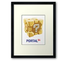 Portal 64 Companion Question Cube Framed Print