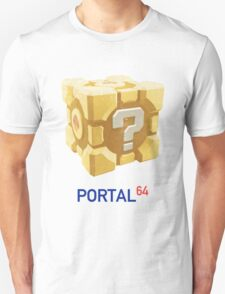 Portal 64 Companion Question Cube T-Shirt