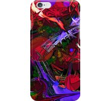 Red Purple Abstract iPhone Case/Skin