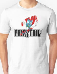 Black Fairy Tail and Red Happy Logo Unisex T-Shirt