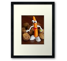 Mr Carrot wants to fit in Framed Print