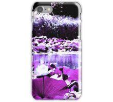 White Water Lotus iPhone Case/Skin