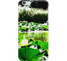 White Water Lotus Natural Color iPhone Case/Skin