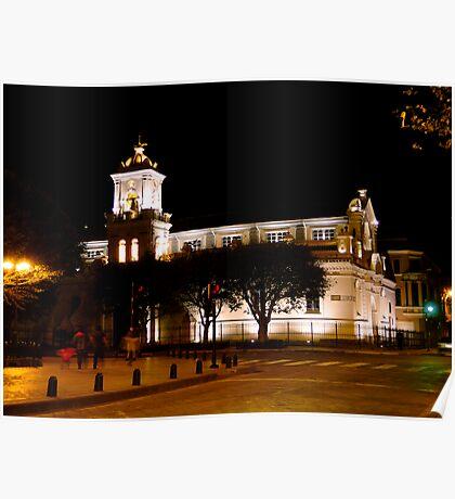 Old Cathedral, Cuenca, Ecuador Poster