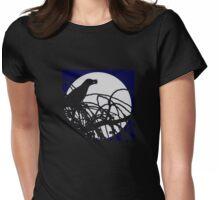 Moon bird Womens Fitted T-Shirt
