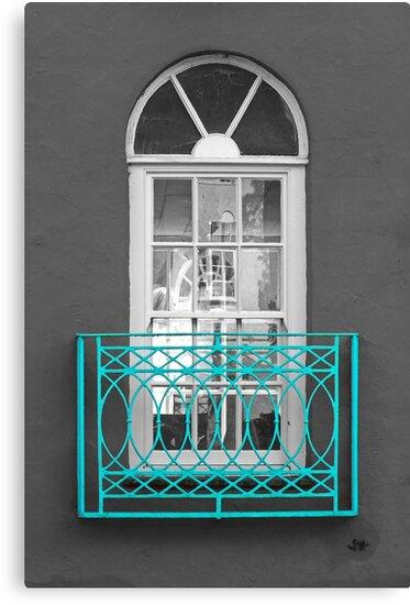 Turquoise Balcony Selective by Yampimon
