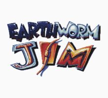 Earthworm Jim (SNES) Title Screen Kids Tee