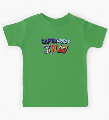 Earthworm Jim (SNES) Title Screen Kids Tee