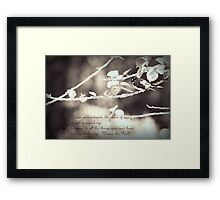Wise Words from Winnie the Pooh... Framed Print