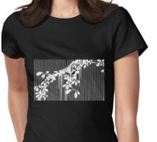 Butterfly vine white Womens Fitted T-Shirt