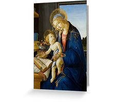The Virgin and Child (The Madonna of the Book) by Sandro Botticelli (1480) Greeting Card