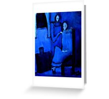 sister in blue Greeting Card