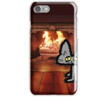 Big Kitty On A Cold Winter Day iPhone Case/Skin