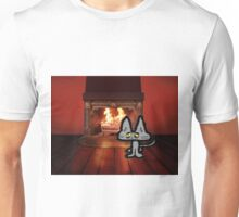 Big Kitty On A Cold Winter Day Unisex T-Shirt