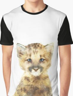 Little Mountain Lion Graphic T-Shirt