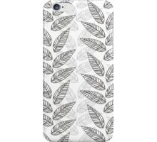 gray and black leaves iPhone Case/Skin