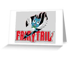Red Fairy Tail and Black Happy Logo Greeting Card