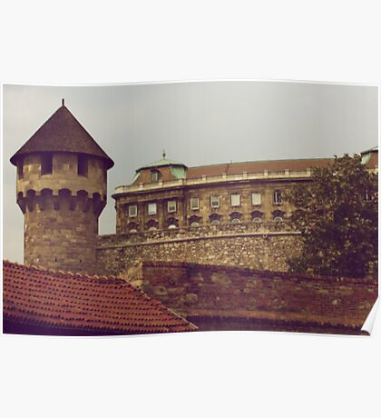 Turret & Palace, Buda, Hungary Poster