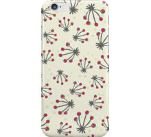 red dot flowers iPhone Case/Skin