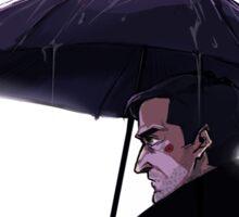 frederick chilton + rainy day Sticker