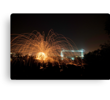 Wirewool Spinning and Newport Transporter Bridge Canvas Print