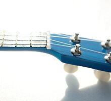 Blue Ukulele fretboard by Pat Garret