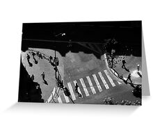 Paris street from above Greeting Card