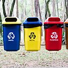 Recycling bins in Sao Paulo by Pat Garret