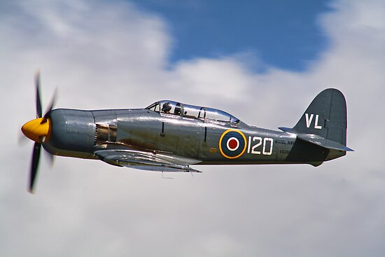 Sea Fury - Dunsfold - 2012 by Colin J Williams Photography