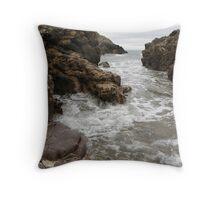 Turning Tide - Mewslade Bay Throw Pillow