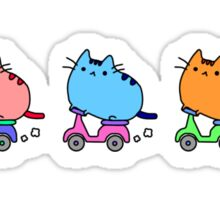 Cats riding scooters Sticker