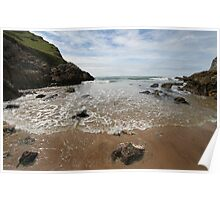 Mewslade Bay - Gower - Wales Poster
