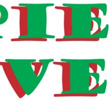 MINCE PIES OVER GUYS Sticker