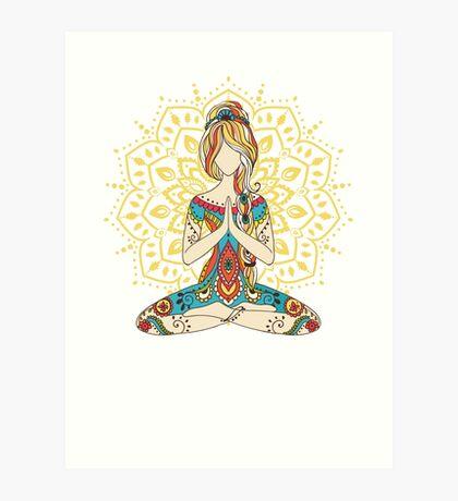 Yoga Om Chakras Mindfulness Meditation Zen 4 Art Print