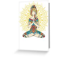 Yoga Om Chakras Mindfulness Meditation Zen 4 Greeting Card